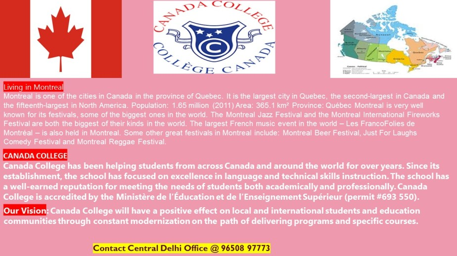 Study in Canada College, Montreal,Canada