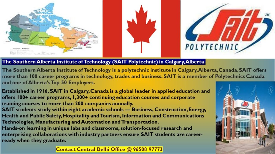 Study in  Southern Alberta Institute of Technology,Canada