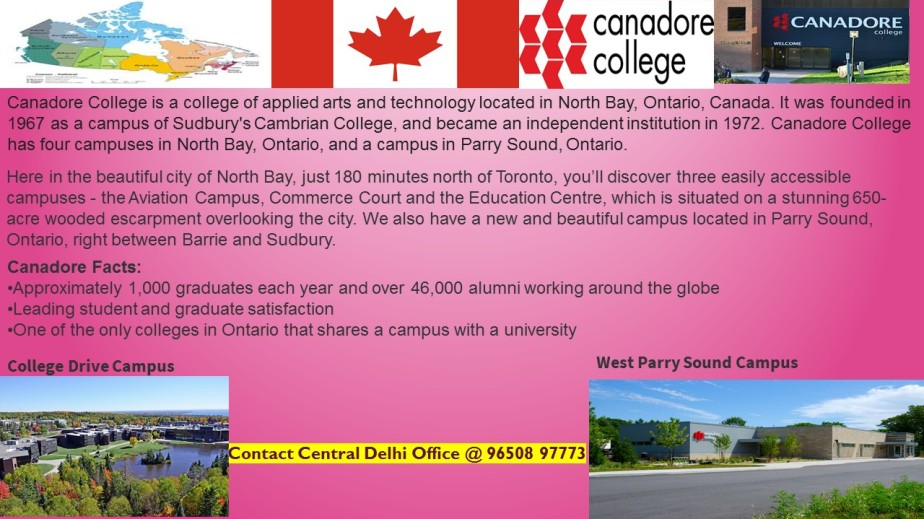 Lets know about Canadore College,Ontario